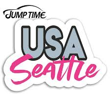 Jump Time For Pink Seattle Vinyl Stickers Usa America Sticker Laptop Luggage Window Decal Waterproof Car Accessories Car Stickers Aliexpress