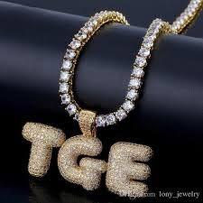 custom name bubble letters pendant