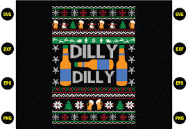 Dilly Dilly Christmas Sweater Graphic By Buyshirtsvg Creative Fabrica