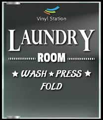 Laundry Room Decal Sign Business Store Vinyl Window Decal Ebay