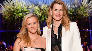 Reese Witherspoon and Laura Dern Practice Social Distancing While ...