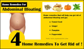 abdominal bloating home remes and