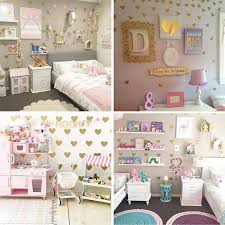 Girl Room Gold Heart Wall Stickers Baby Nursery Wall Decal Children Bedroom Wall Sticker For Kids Room Easy Wall Home Decoration Wallcorners Art Canvas