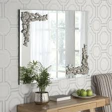wall mirror with silver corner design