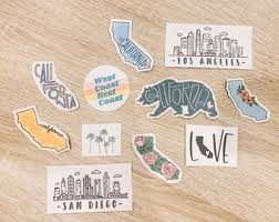 San Diego Sticker Etsy