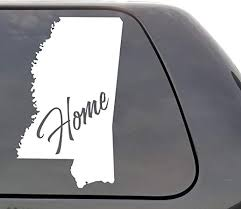 Amazon Com Mississippi Decal Mississippi Ms Decal Home State Decal Car Decals Yeti Decal Laptop Decal State Love Window Decal Vinyl Decal Wall Window Door Car Truck Home Kitchen
