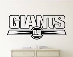 New York Giants Wall Decal Vinyl Sticker Nfl Football Emblem Sport Home Decor Ebay