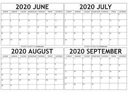 September 2020 Calendar Templates ...