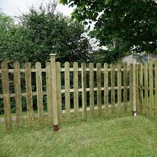 Mercia 3ft High 915mm Mercia Palisade Round Top Fence Panels Pressure Treated Palisade Picket Elbec Garden Buildings
