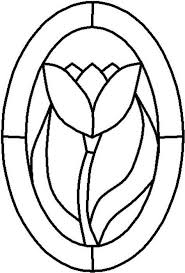 stained glass patterns easy flower