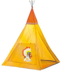 Amazon Com Buengna Indian Teepee Tripod Play Tent Kids Hut Children House Toys Games