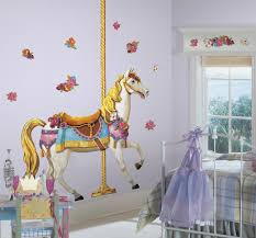 Carousel Horse Peel Stick Giant Wall Decals Walldecals Com