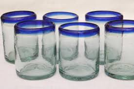 mexican glass drinking glasses set