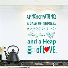 Amazon Com A Pinch Of Patience A Dash Of Kindness Kitchen Vinyl Wall Decals Home Decor Stickers Kitchen Wall Art Handmade