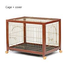 Lqw Home Wooden Dog Crates With Toilet Big Dog Extra Large Medium Large Dog Pet Fence Metal Pet Sports And Fence Indoor Cage Color Cage Cover Dogly