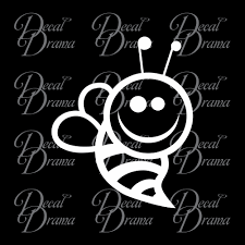 Bee Happy Bumblebee Vinyl Car Laptop Decal Decal Drama