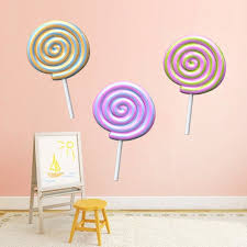 Wall Decals Kit 3 Lollipops A184 Etsy