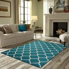 blue white area rug wall mounted corner