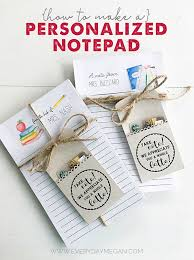 how to make a diy personalized notepad