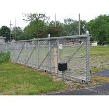 Hoover Fence Chain Link Fence Single Track Aluminum Slide Gate Kits Hoover Fence Co