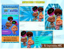 Kit Imprimible Mini Beat Power Rockers Cotillon Fiestas 2x1