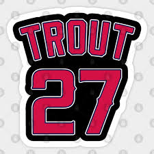 Trout Mike Trout Angels Jersey Gift Sticker Teepublic