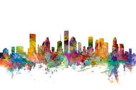 Houston Texas Skyline A Wall Mural For Every Room Photowall