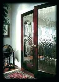 door with glass insert french leaded