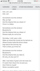 Omg omg. Look at Somehwere over the Rainbow lyrics??? : TaylorSwift