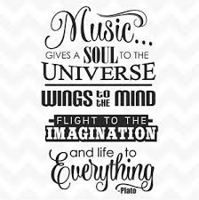 Music Gives Soul To The Universe Plato Quote Vinyl Wall Art Sticker Saying Ebay