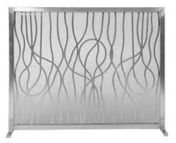 dagan panel fireplace screen stainless
