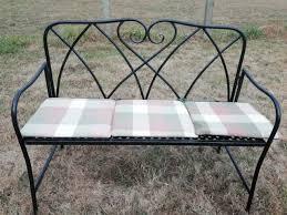 cast aluminium garden bench