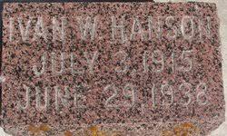 Ivan Wallace Hanson (1915-1938) - Find A Grave Memorial