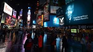 mandela honoured by film installation in times square news