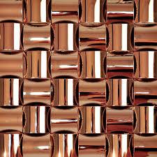 brown chrome stainless steel backsplash