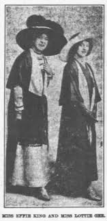 Miss Effie King and Miss Lottie Gee - Newspapers.com