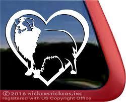 Australian Shepherd Dog Decals Stickers Nickerstickers