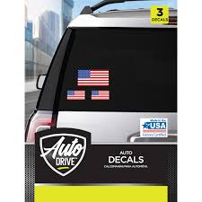 Auto Drive U S A Flag Car Stickers Walmart Com Walmart Com