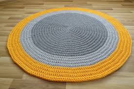 Yellow Round Rug Toddler Room Decor Nursery Rug Yellow Area Etsy