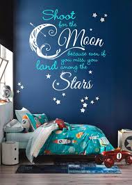 Shoot For The Moon Land Among The Stars Quote Decal Custom Etsy