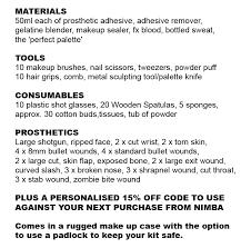 makeup kit list nimba creations