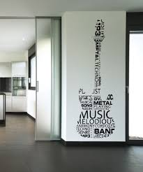 Vinyl Wall Decal Sticker Music Words Guitar 1162 Wall Stickers Cool Music Bedroom Music Room Decor