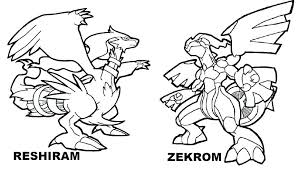 Pokemon Coloring Pages Zekrom