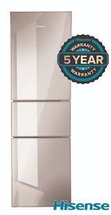 hisense 300lt 3 door fridge mirror