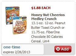 0 13 honey nut cheerio crunch medley