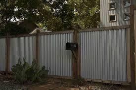 Corrugated Metal Panels Wood Frame Corrugated Metal Fence Metal Fence Panels Metal Fence