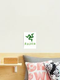 Razer Logo Photographic Print By Rattaspi Redbubble