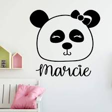 Personalized Panda Bear Silhouette Vinyl Vinyl Decor Wall Decal Customvinyldecor Com