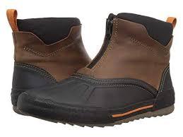 dark tan waterproof leather top shoes