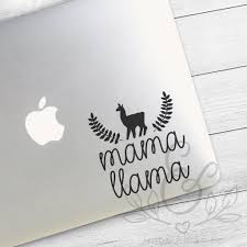 Mama Llama Mom Decal Mom Sticker Llama Decal Llama Sticker Mom Life Mama Laptop Stickers Laptop Decal Macbook D Vinyl Decals Wet Surface Soft Silicone